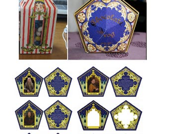 Printable Box and cards Replica bertie beans box bertie botts jelly beans not affiliated with owners of harry potter tm chocolate frog box