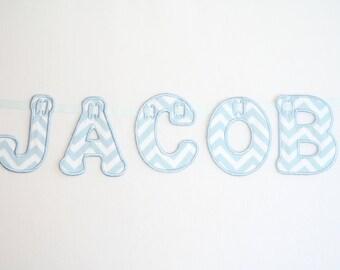Personalised Name Zigzag Bunting Blue
