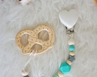 Wooden teether chain (customisable)