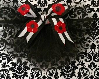 Trendy Black & Red Booty Veil