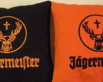 Embroidered Jagermeister Cornhole Bags Set of Eight - Sweet