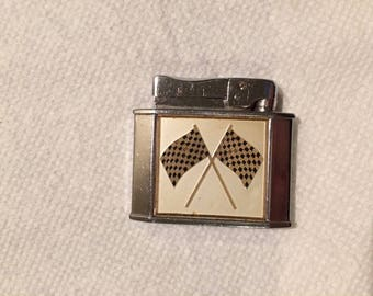 Vintage ROGERS Cigarette Lighter With Rally Flags