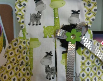 Fancy Nancy Giraffe Romper