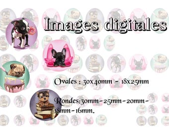 Digital printable images naughty dogs