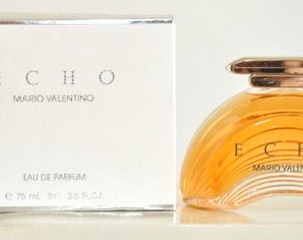 Echo Mario Valentino for woman Eau de Parfum Edp 75ML 2.5 Fl. Oz. No Spray Rare Vintage Old 1989