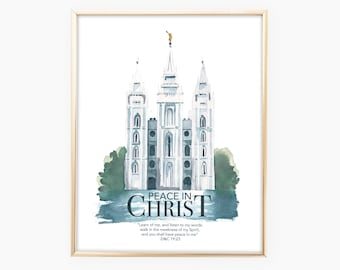 Printable Peace in Christ Mutual 2018 Theme Poster | Digital Young Women Theme Poster | LDS Youth Theme Poster