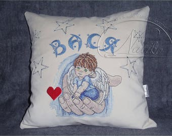 Baby pillow, kids room pillow, cushion, For you pillow, Decorative pillow, Pillow for children, nursery pillow, machine embroidery, gift