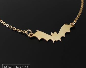 Halloween Bat Necklace, Bat Necklace, Bats Necklace, Bat Jewelry, Bat Pendant Charm, Halloween Necklace Halloween Jewelry, Halloween Gifts