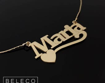 Customize Name Necklace, Customize Your Name Necklace, Any Pendant Name, Personalized Name Jewelry, Gold/Rose Plated 18k Or Sterling Silver