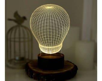 3D Table Lamp, Mom Gifts, Christmas Gift for Her, Gifts for Mom, 3D Led Lamps, Gifts for Wife, Desk Lamp, LED Night Light, Modern Lamp