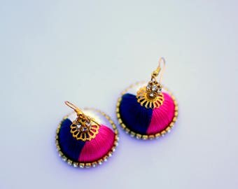 Silk thread earring