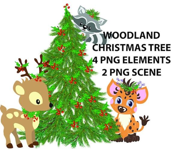 Christmas baby animal / digital file woodland - forest ...