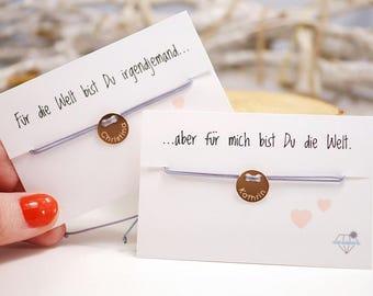 Friendship bracelet set ~ engraving ~ 925 Silver ~ Rosé gold