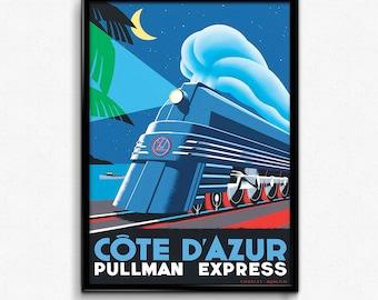 Pullman Express canvas art print poster