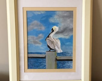Pelican in Yellow Frame