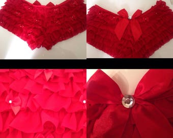 Red Ruffle Knickers