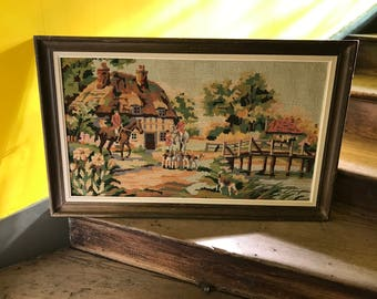French Vintage Farm tapestry board