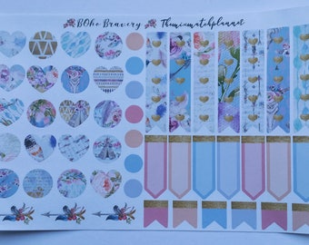 Flag,tags and decor sheet,planner stickers,Boho bravery,personal sheet,happy planner,erin conden,bullet journal,webster pages,kate spade,TN