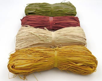Natural Raffia. Colored Raffia. Wedding Decor. Fall Decor. Floral Arranging. Home Decor. Wreath Making. Gift Wrapping