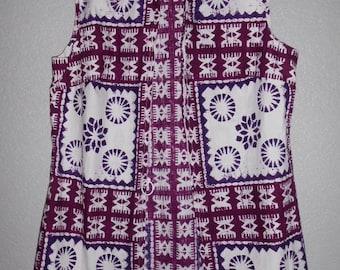 Alex Coleman California women's hippie sleeveless dress with short pants size L