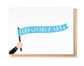 Llongyfarchiadau - Greeting Card - Welsh Greeting Card - Welsh Congratulations Card - Stationery - Folio - thisisfolio