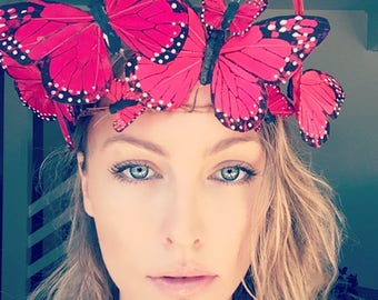Red Butterfly Crown