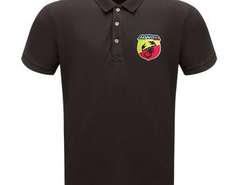 Fiat Abarth Emblem Embroided Regatta Classic Pique Polo T-Shirt 500 Punto Evo