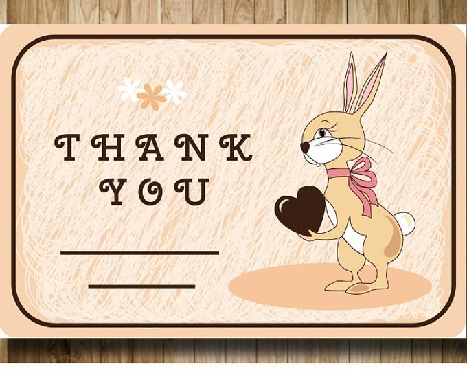 Printable gifts. Digital Thank you card.