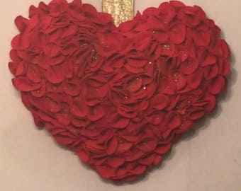 Rose Heart Wreath Hanging Ornament