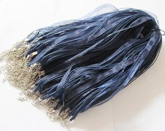 Navy Blue Ribbon Cords