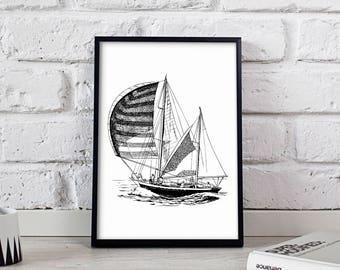 Yacht Yachting poster, Yacht Yachting wall art, Nautical poster, Yacht Yachting wall decor, Yacht Yachting print