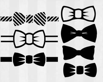 Bowtie SVG Bundle, Bowtie clipart, Bowtie cut files, svg files for silhouette, files for cricut, svg, dxf, eps, cuttable design