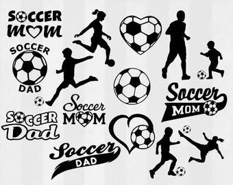 Soccer SVG Bundle, Soccer clipart, Soccer cut files, soccer svg files for silhouette, files for cricut, svg, dxf, eps, cuttable design