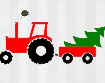 Christmas tractor svg, Christmas svg, Christmas svg for boys, Boy Christmas SVG, DXF, svg files, Christmas cut file, Christmas clipart