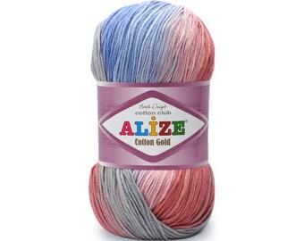 Cotton Gold Batik Alize Design High Quality Crochet yarn Yarn for knitting Summer yarn Hand knit yarn Cotton-Acrylic yarn Soft yarn