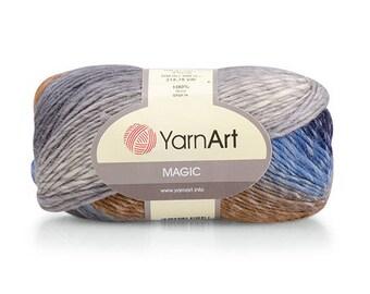 Yarnart Magic Multicolored yarn Wool Knitting yarn Wool shawl warp  Winter yarn Colorific wool yarn Soft Wool yarn Crochet yarn Melange yarn