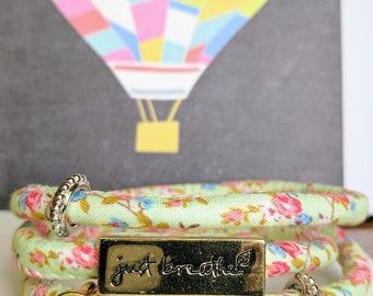 Floral wrap around bracelet