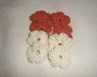 Set of 8 crochet flowers