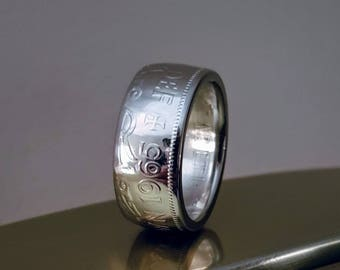 1965 Half Crown coin ring