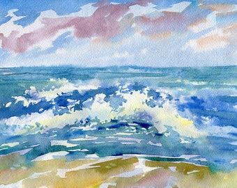 Landscape Original Watercolour Painting Q97