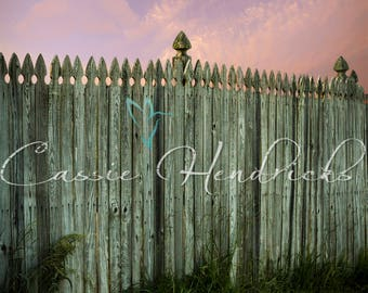 Digital backdrop; Country fence