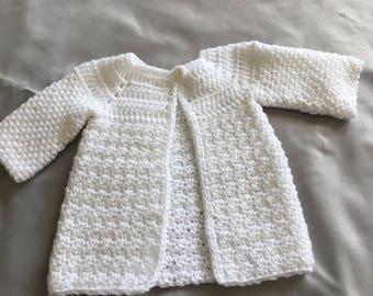 Premmie unisex baby jacket, white unisex baby coat