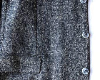 Nordstrom Natural Style 46L Brown Wool Men's Jacket
