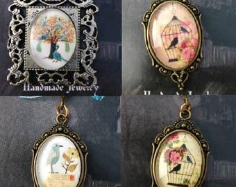 Handmade Bird Cameos- Choice of 4 designs