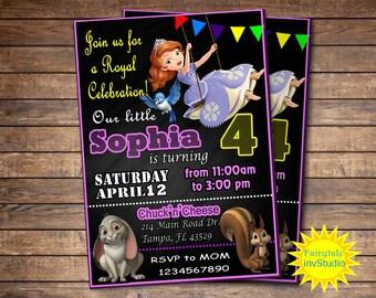 Sofía la primera invitación, Sophia el primer fiesta de cumpleaños, invitación de Sofía, Princesa Sophia, personalizadas, para imprimir, archivo Digital