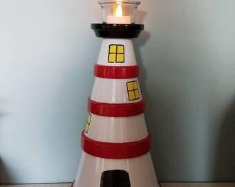 Lighthouse tealight holder