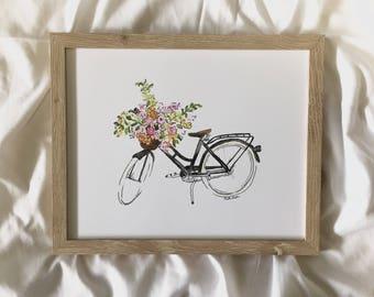 Floral Bicycle PRINT
