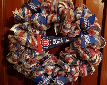 Chicago Cubs Wreath.