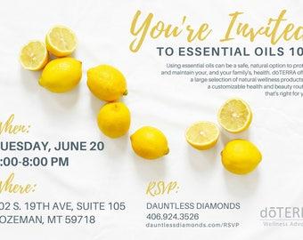 doTERRA Class Invitation - Lemon