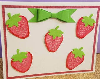 Strawberry Cards, blank inside